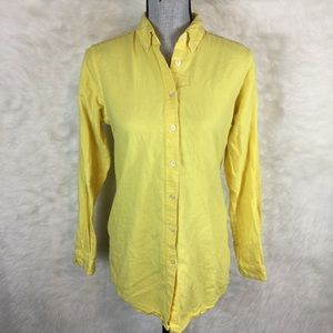 Kyliya Button Down Shirt Blouse Long Sleeve Yellow